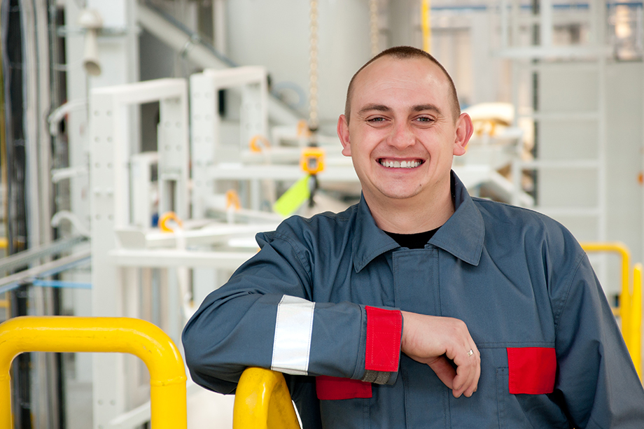 """""""When I took up employment at Lumag I was unemployed and had been looking for whatever job I could find. What encourages me to stay at Lumag are excellent wages and improvement of working conditions."""" Łukasz – Mixing Facility Worker – at the company for 12 years"""